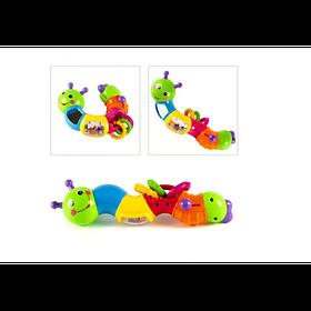 """Детская Развивающая Игрушка-Погремушка Joy Toy """"Гусеница-Логика"""" 6 вращающихся секций (9182/786)"""
