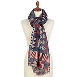 Палантин шерстяной 10839-12, павлопосадский шарф-палантин шерстяной (разреженная шерсть) с осыпкой, фото 2