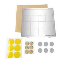 Платформа с подогревом 220 * 220 мм Горячая кровать Сталь Пластина с круглой наклейкой Магнит + Магнитic + лист PEI для Prusa I3 3D-принтера -