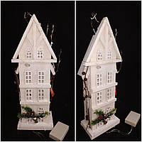 Оригинальный декор - домик из дерева с ЛЕД подсветкой, выс. 45 см., 465 грн.