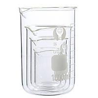 4шт100мл250мл500мл1000млНабор мензурок с градуированным боросиликатным стеклом - 1TopShop