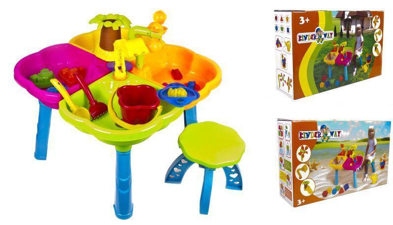 Столик для  песка с песочным набором и стульчиком