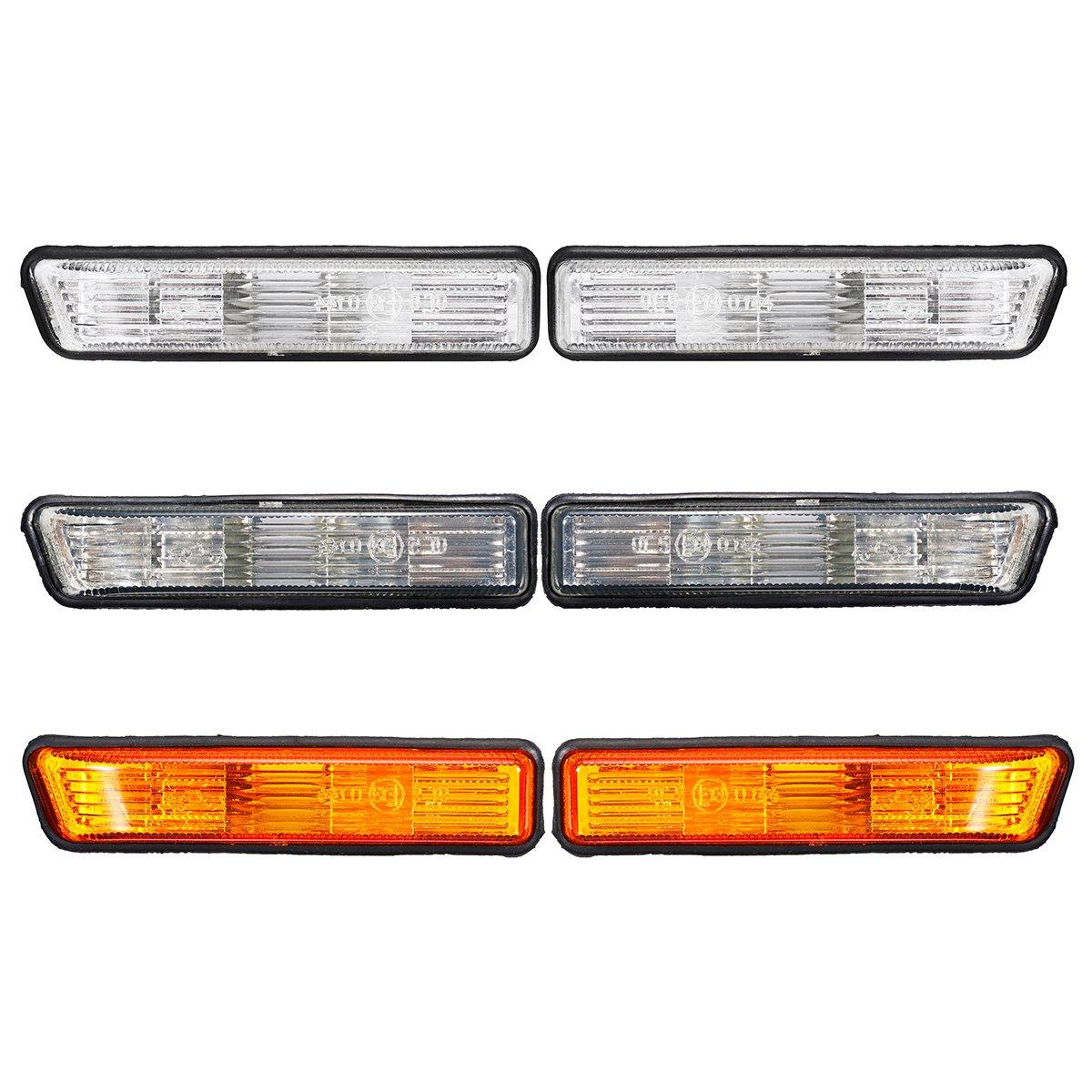 Пара Сторона Маркерные огни Поворот Лампа Обложка для BMW E36 1997-1999 X5 2000-2006 - 1TopShop