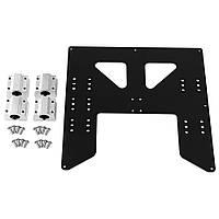 Черный / Серебристый Алюминиевый Y Коляска Hot Bed Поддержка Пластина с ползунком для 3D-принтер-1TopShop