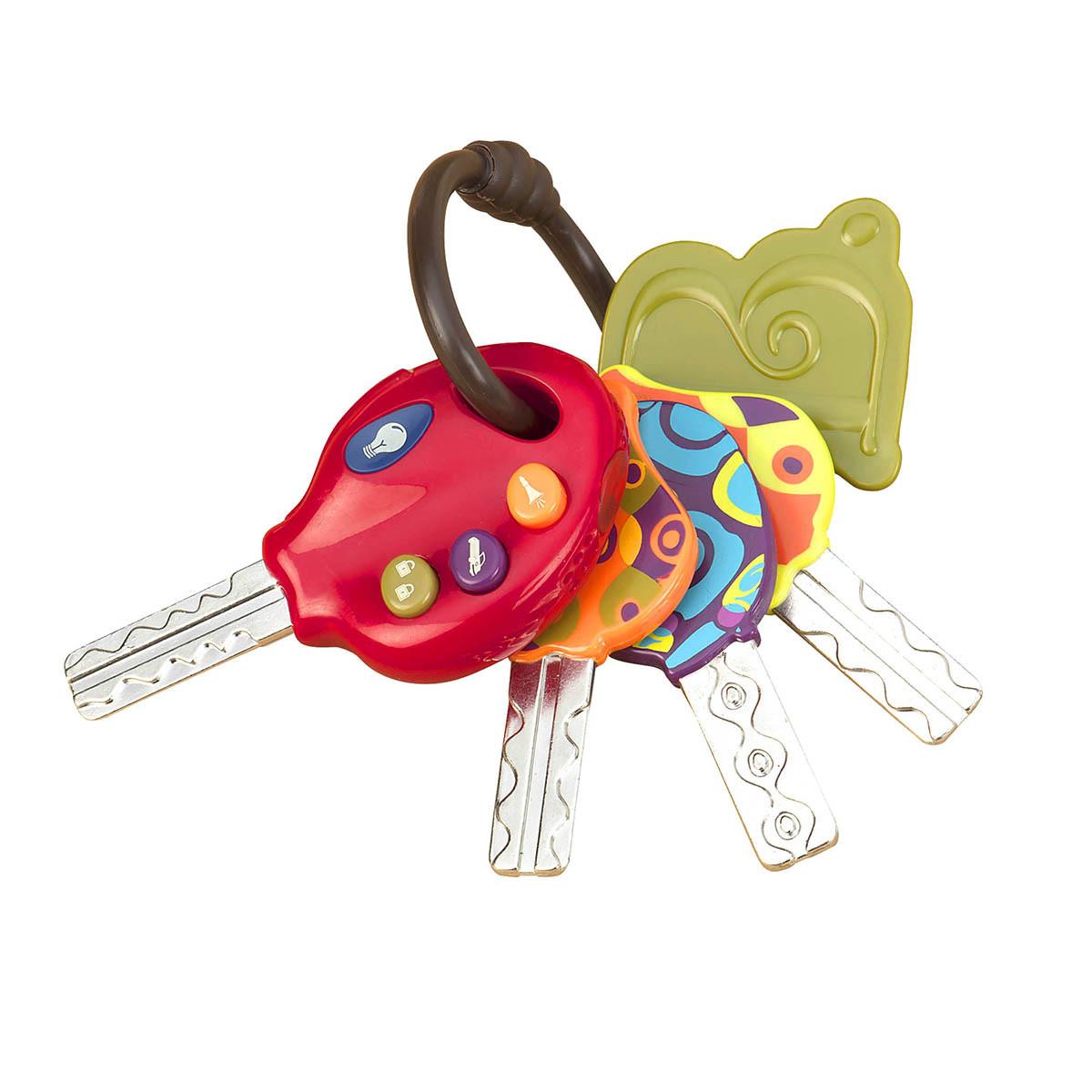 Развивающая игрушка – СУПЕР-КЛЮЧИКИ (свет, звук, томатный), BX1227Z