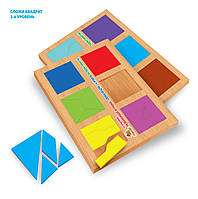 Методика Нікітіних Склади квадрат 2 рівень, 12 квадратів (СК-020)