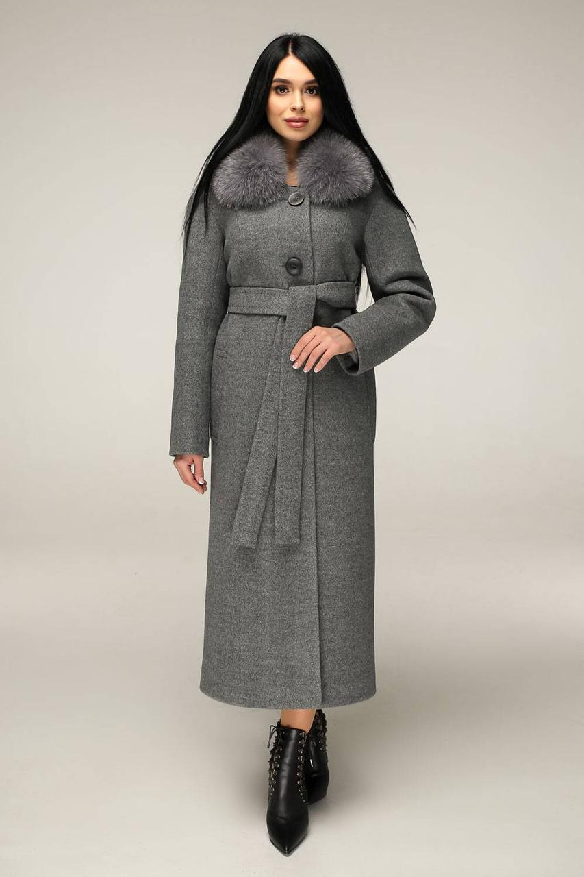 Пальто зимове пряме П-1229 н/м Шерсть пальтовая 113-1712 10 Тон