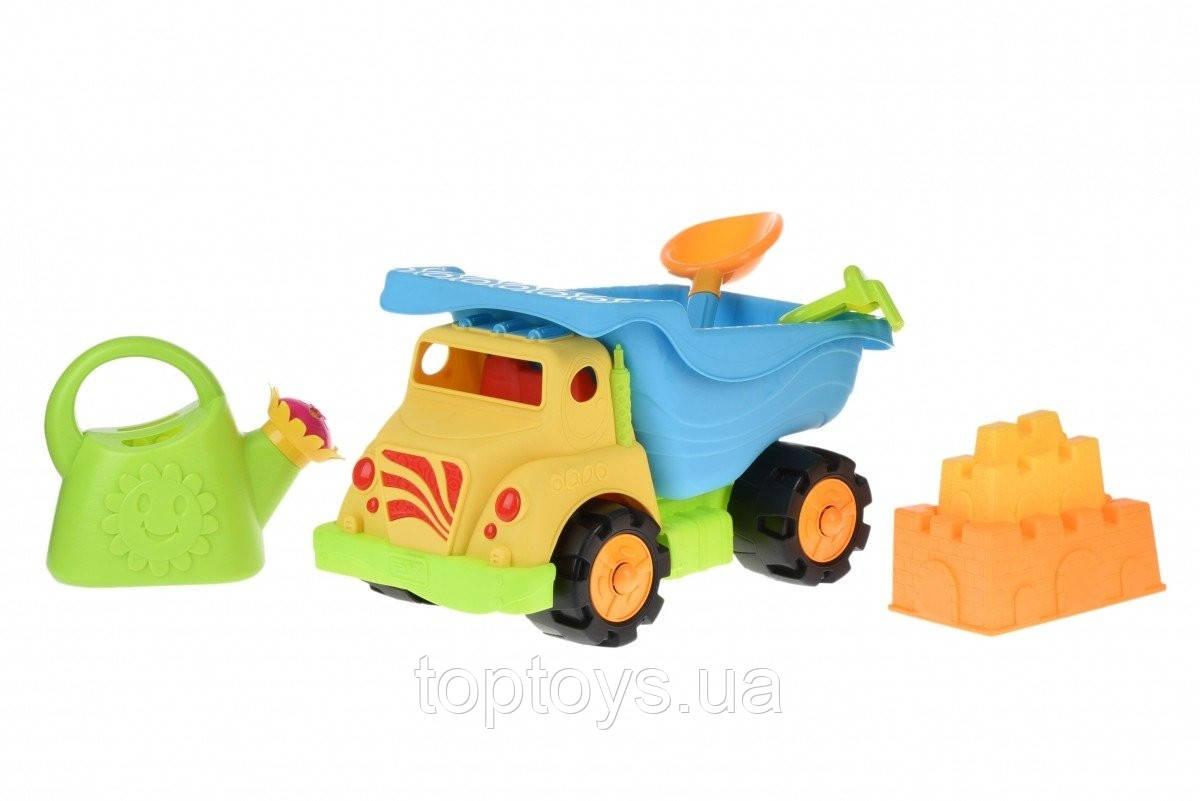 Набір для гри з піском Same Toy 6 од Вантажівка Жовтий (973Ut-2)
