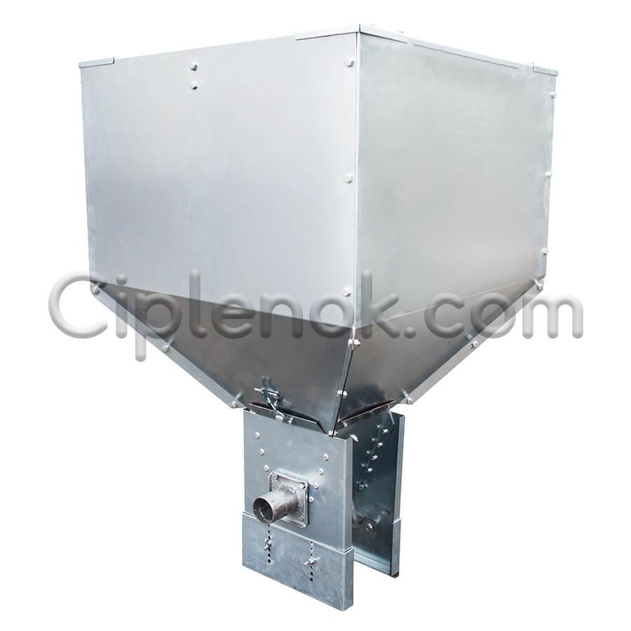 Бункер (хоппер) 90 кг в сборе (с поддоном и валом)