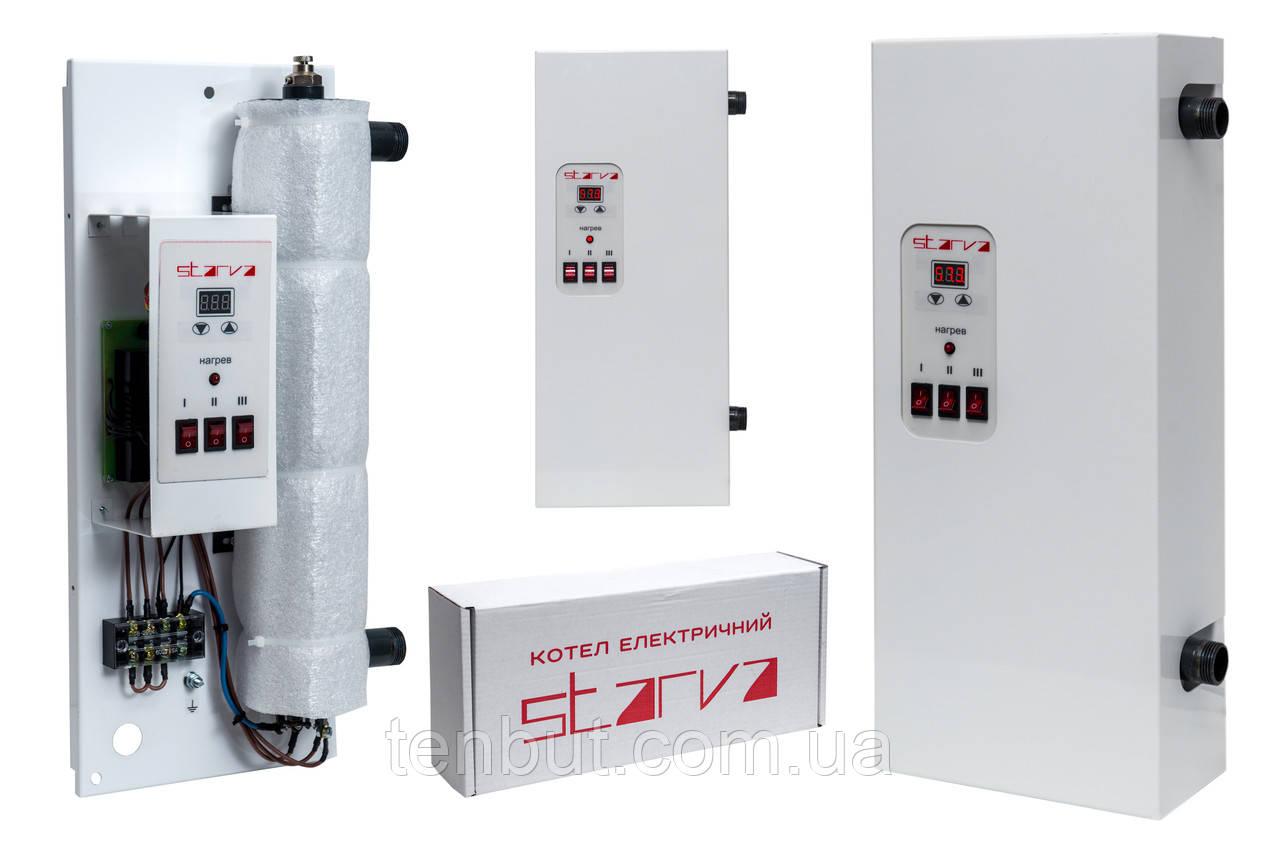 """Котел електричний """"STARVA"""" для опалення 7.5 кВт. 3-х фазний з цифровим управлінням виробник Україна"""