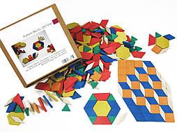 Мозаїка з фігур 250 штук, дерево, в картонній коробці
