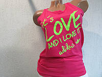 Майка женская розовая Adidas (201502) код 01д