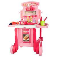 Детская игровая кухня 008-927 чемодан на колесах 59,5-47-42,5 см