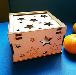 Подарочная коробка из дерева (фанера) Светляччок (0002(К))
