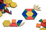 Мозаїка з фігур 250 штук, дерево, в картонній коробці, фото 2