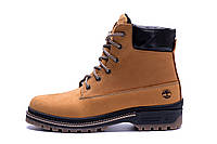 Мужские зимние кожаные ботинки Timberlend Crazy Shoes Limone New (реплика)