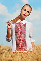 Вышиванка блуза Тамила2 д/р красный