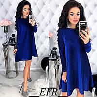 Платье женское свободное трикотажное 48-50