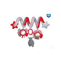 Canpol babies Іграшка м яка спіраль до ліжечка чи візка Zig Zag (68/063_red)