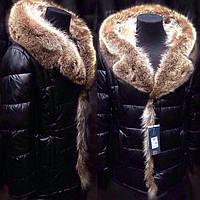 Мужская зимняя куртка пуховик с мехом енота на верблюжьей шерстию. Аляска с меховым капюшоном.