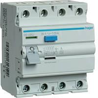 Устройство защитного отключения Hager (ПЗВ) 4P 25A 30mA A (CD425J)