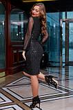 Гламурне приталене плаття пряме (2 кольори, р. M,L,XL,2XL), фото 5