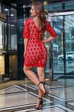 Елегантне коктейльне плаття з мереживом (5 кольорів, р S,M,L,XL), фото 2