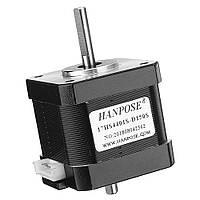 HANPOSE17HS4401S-D150SДвойнойвал48мм Nema 17 Степпер Мотор 42 Мотор 42BYGH 1.6A 45N.cm 4-выводный для 3D-принтера с ЧПУ Лазер-1TopShop