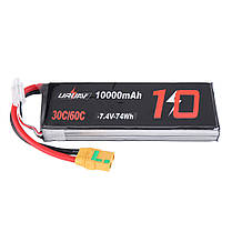 URUAV 7.4V 10000mAh 30 / 60C 2S Lipo Батарея XT90 Штекер для гонок РУ Квадрокоптер FPV Дрон - 1TopShop, фото 2