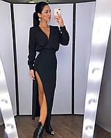 Вечернее роскошное платье с вырезом на бедре, фото 1