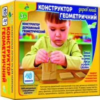 Геометрический деревянный конструктор 40 эл.