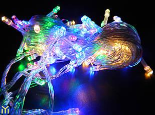 Гирлянда новогодняя нить, Разноцветная, 100 LED, 9м.