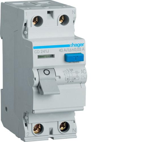 Устройство защитного отключения Hager (ПЗВ) 2P 40A 30mA AC (CD241J)