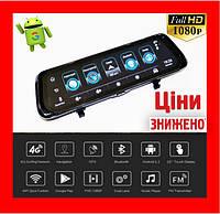 "Видеорегистратор E05 Зеркало регистратор 10"" Экран сенсор - 2 камеры + GPS навигатор + WiFi + Android + 3G Под"