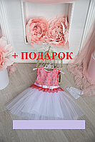 Детское нарядное платье + ПОДАРОК  3-5 лет, фото 1
