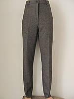 Классические женские теплые брюки, полная длина, с резинкой на поясе р.54 код 2740М