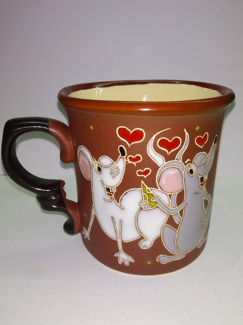 """Чашка керамическая """"Влюбленные мышки"""""""