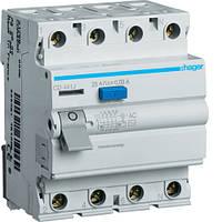 Устройство защитного отключения Hager (ПЗВ) 4P 40A 30mA AC (CD441J)