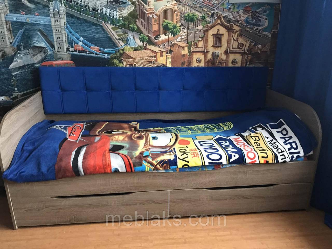 """Кровать """"Л-7"""" односпальная с мягкой спинкой Lion"""