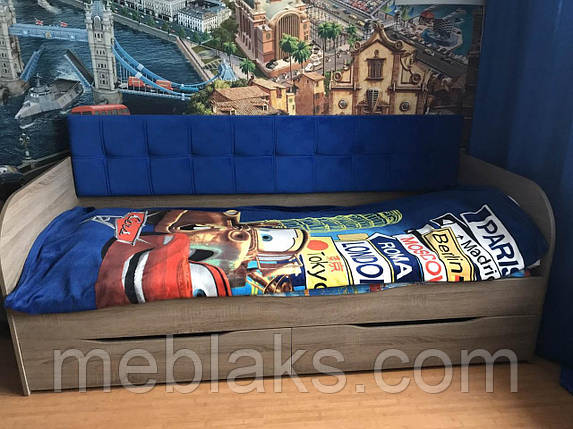 """Кровать """"Л-7"""" односпальная с мягкой спинкой, фото 2"""