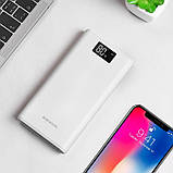 Внешний аккумулятор Power bank BOROFONE BT2D 30000 mah, три разъема USB, ЖК-дисплей, фото 10