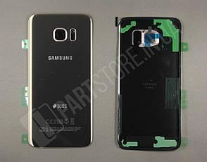 Cервисная оригинальная задняя Крышка Samsung G935 Gold S7 edge (GH82-11510C), фото 2