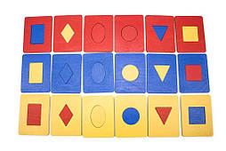 Досточки Сегена, 6 фигур, 3 цвета, Розумний лис