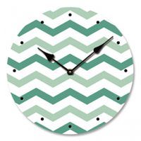 "Часы настенные ""Зеленый Зигзаг"" (29 см. МДФ, холст), фото 1"