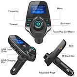 FM трансмитер Bluetooth T10 BT, Модулятор, Трансмитер от прикуривателя, FM Модулятор, Автомобильный трансмитер, фото 8