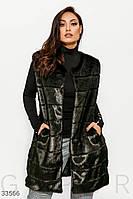 Меховая жилетка женская большого размера XL 2XL 3XL