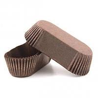 Тарталетка прямокутна для еклерів, тістечок коричнева 100х35х30 Р10 50шт