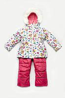 Детский зимний костюм-комбинезон для девочки