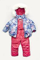 Детский зимний костюм-комбинезон из мембранной ткани на девочку