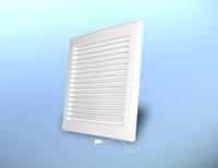 Решетка вентиляционная настенная, квадратная, пластиковая с механическими жалюзи DOSPEL DL/ 135 Z